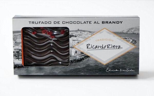 Turrón trufado de chocolate al brandy