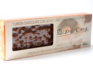 Turrón Chocolate con leche y avellanas Ricardo Riera